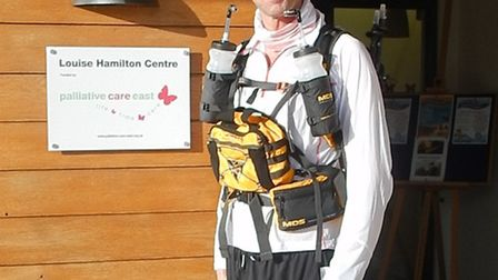 Jonathan O'Hara who is taking part in the world's toughest race, the Marathon des Sables across the