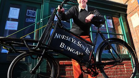 Nurseys of Bungay are set to close for the final time.Tim Nursey with the company bike.