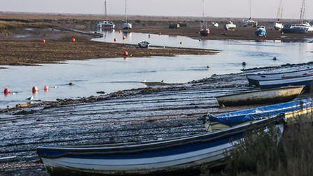 Views of Wells harbour on a cold, crisp, sunny morning. Picture: Matthew Usher.
