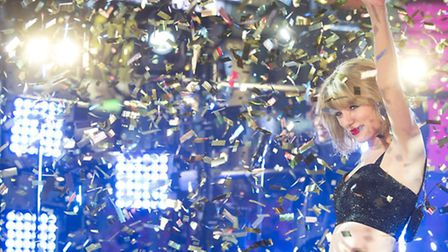 Taylor Swift performs in Times Square during New Year's Eve celebrations on Wednesday, Dec. 31, 2014