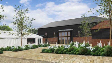 An artists impression of what the wedding and events venue will look like when complete
