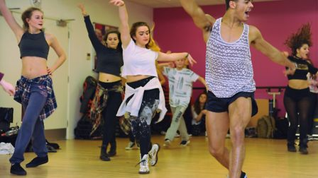West End performer Layton Williams teaches a routine to dancers at the Garage during his masterclass