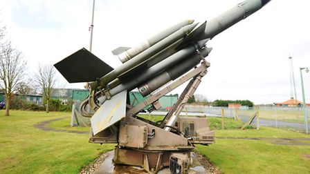 The Bloodhound missile in its launcher at the RAF Air Defence Radar Musuem at Neatishead.