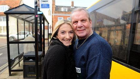 Mervyn Kent proposed to Dawn James at the bus stop where they met in Beccles - but attracted the att