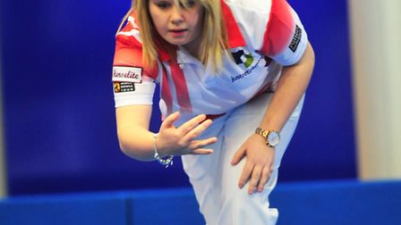 World Bowls action from Potters leisure resort, Hopton between Katherine Rednall and Vicky Bilson