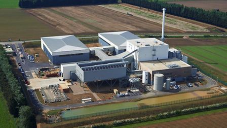 BWSC biomass plant in Sleaford during construction (similar to the proposed plant at Snetterton)