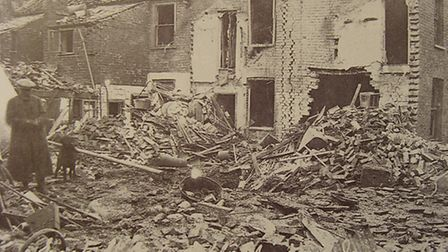 Trail of destruction: damage in and around East Street and Albert Street, King's Lynn, caused by the