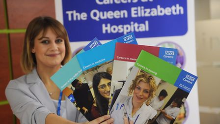 NHS recruitment drive in King's Lynn. Pictured is Adele Norris. Picture: Ian Burt