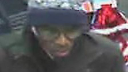 CCTV images of Owoidoho Ikidde in the McColls shop in Lowestoft Road, Gorleston, on the day he went