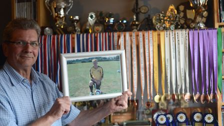 Eric Seear with a photograph of his son Jack. Picture: Ian Burt