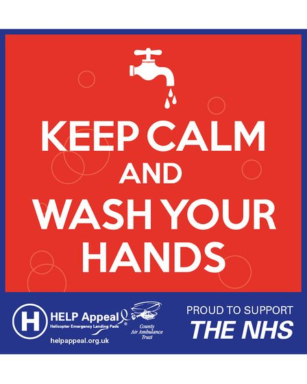 Wartime art inspired with words Keep Calm and Wash Your Hands