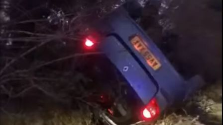 Kaci Blease and boyfriend Stephen Mulley were driving along Pond Hall Road in Hadleigh when they swerved to avoid an...