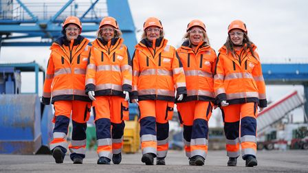 ABP Branded Anchor Woman's PPE shoot at ABP's Port of Ipswich, on 03-September-2019.Picture: Stephe
