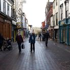 Bury St Edmunds town centre during the third UK lockdown Picture: CHARLOTTE BOND