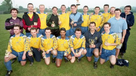 The winning side from the Ipswich Inter Firm Cup Final. Picture: ANDREW HENDRY