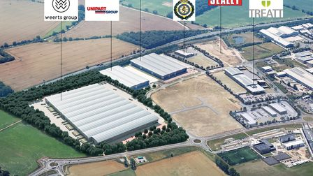 A digital impression of what the aerial view of Suffolk Park will look like with the Weerts Group wa