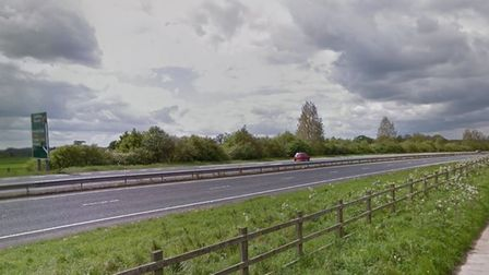 The road rage incident happened near the A47 westbound slip road in Postwick. Picture: Google Maps