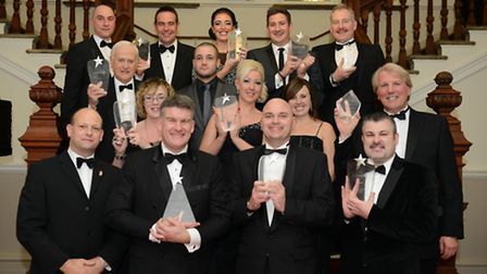 The Spirit of Enterprise Award winners, pictured at the town hall in 2014.