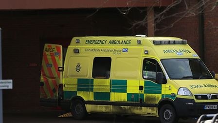An ambulance outside Lincoln County Hospital as health professionals have warned that the NHS is in