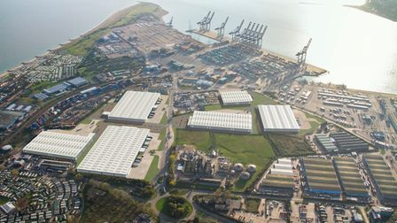 How the new £40m Port of Felixstowe Logistics Park will look when built.