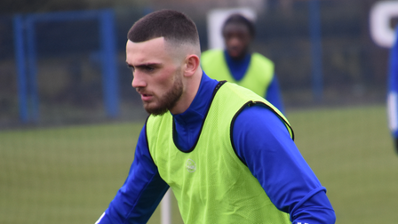 Troy Parrott, pictured during his first training session as an Ipswich Town player