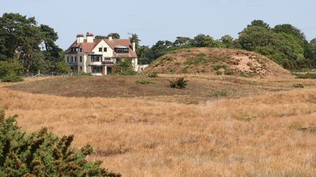 Tranmer House from the mounds at Sutton Hoo