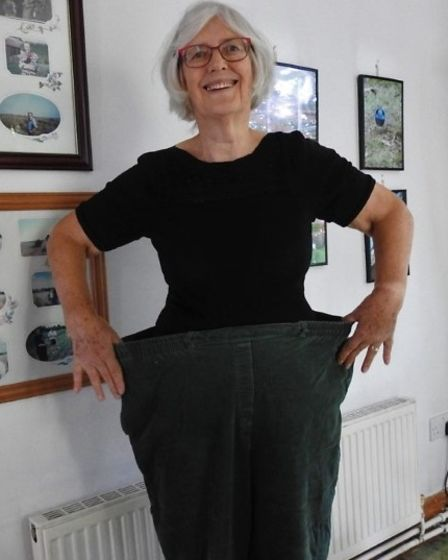 Ann Dye, who attends the Scarning Slimming World Group, was attending a routine check-up at Orchard Surgery when she was...