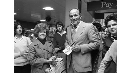Henry Cooper at Boots Store in Bury in October 1978