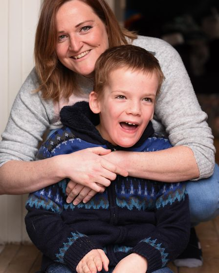 Emma Aston from Buxton, who is fundraising to get her son, eight-year-old Robbie, a new buggy and ca