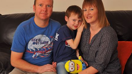 The Taylor family - David, Mary and five-year-old Ethan, who were supported by EACH after they lost