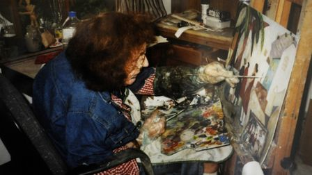 Work by artist Gwyneth Johnstone. Pictured in her studio. Picture: SUPPLIED