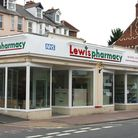 Lewis Pharmacy situated conveniently on Exeter Road.;