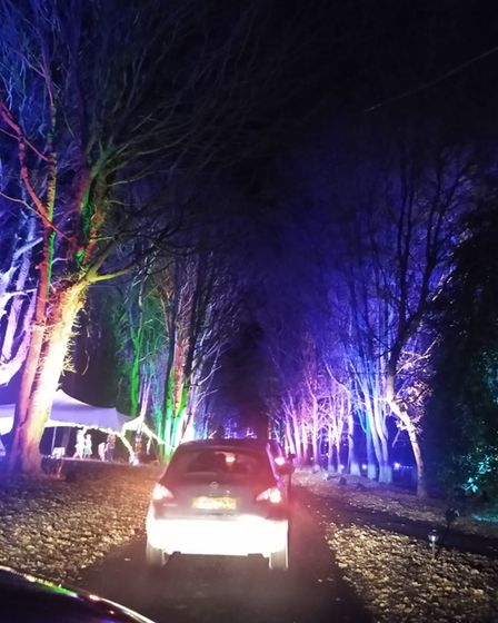 Thomas Garlick said he and his family had to wait for almost two hours to get into the lights show at Taverham Hall last...
