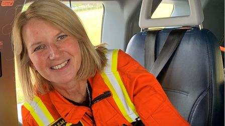 Dr Patricia Mills in the East Anglian Air Ambulance