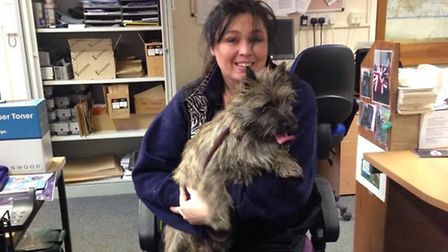 A dog that boarded a train in Newmarket made it to Cambridge before being picked up by the dog Warde