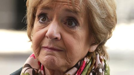 Margaret Hodge MP outside No 10 Downing Street, central London, after handing in a petition - signed
