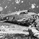 The wreckage of the British European Airways plane which crashed in Munich on February 6, 1958, whil