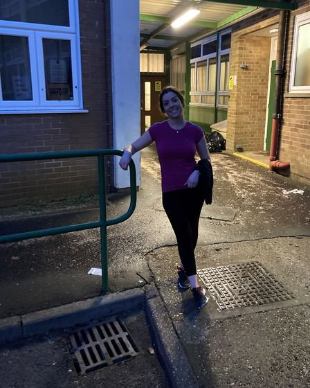 Jess Cuss head of year 13 at Springwoodhas challenged herself to run 100km during lockdown.