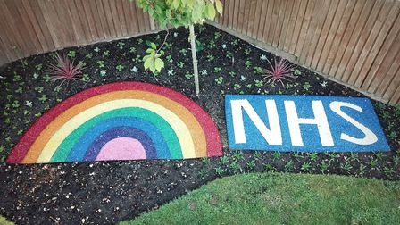 A display honouring the NHS has been planted at the Reg Driver Centre in Christchurch Park. Picture: