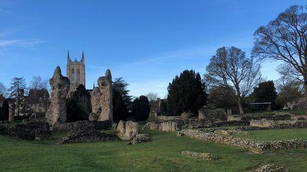 The Abbey Gardens ruins in Bury St Edmunds. Picture: MARK LANGFORD