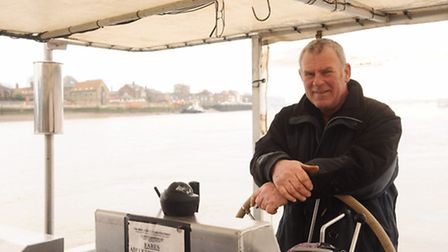 The new amphibious ferry service is up and running between King's Lynn and West Lynn. Pictured is St