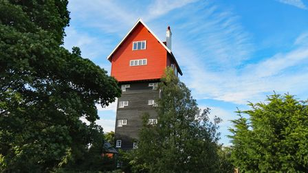 The house in the clouds was built in 1923 to contain a tank to supply water to the village of Thorpe