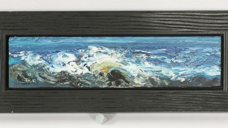 Maggi Hamblingcaptures perfectly the moment of the sea as the wave crashes on the land