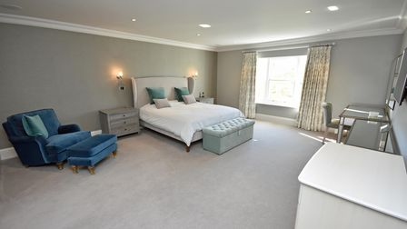 One of the bedrooms at Town House Farm