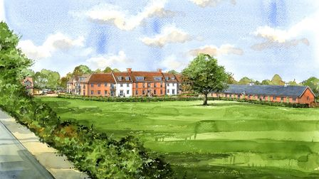 Artists impressions of the retirement village at Mistley Place Park