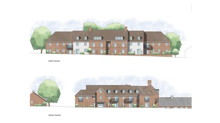Drawings of what the main apartment building would look like