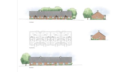 Drawings of how the bungalows would look