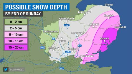 An update on where snow is expected to fall this weekend