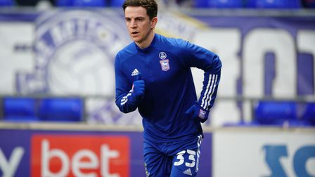 Josh Harrop pictured ahead of the game.