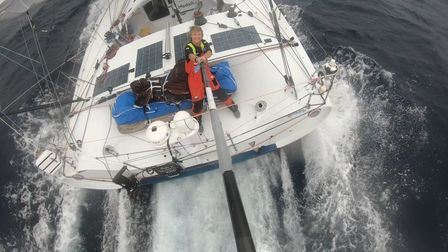 #EN# Photo sent from aboard the boat Medallia during the Vendee Globe sailing race on February 4, 20